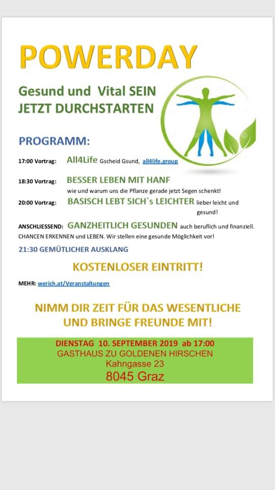 A-Graz Powerday – Gesund und Vital sein mit All4Life