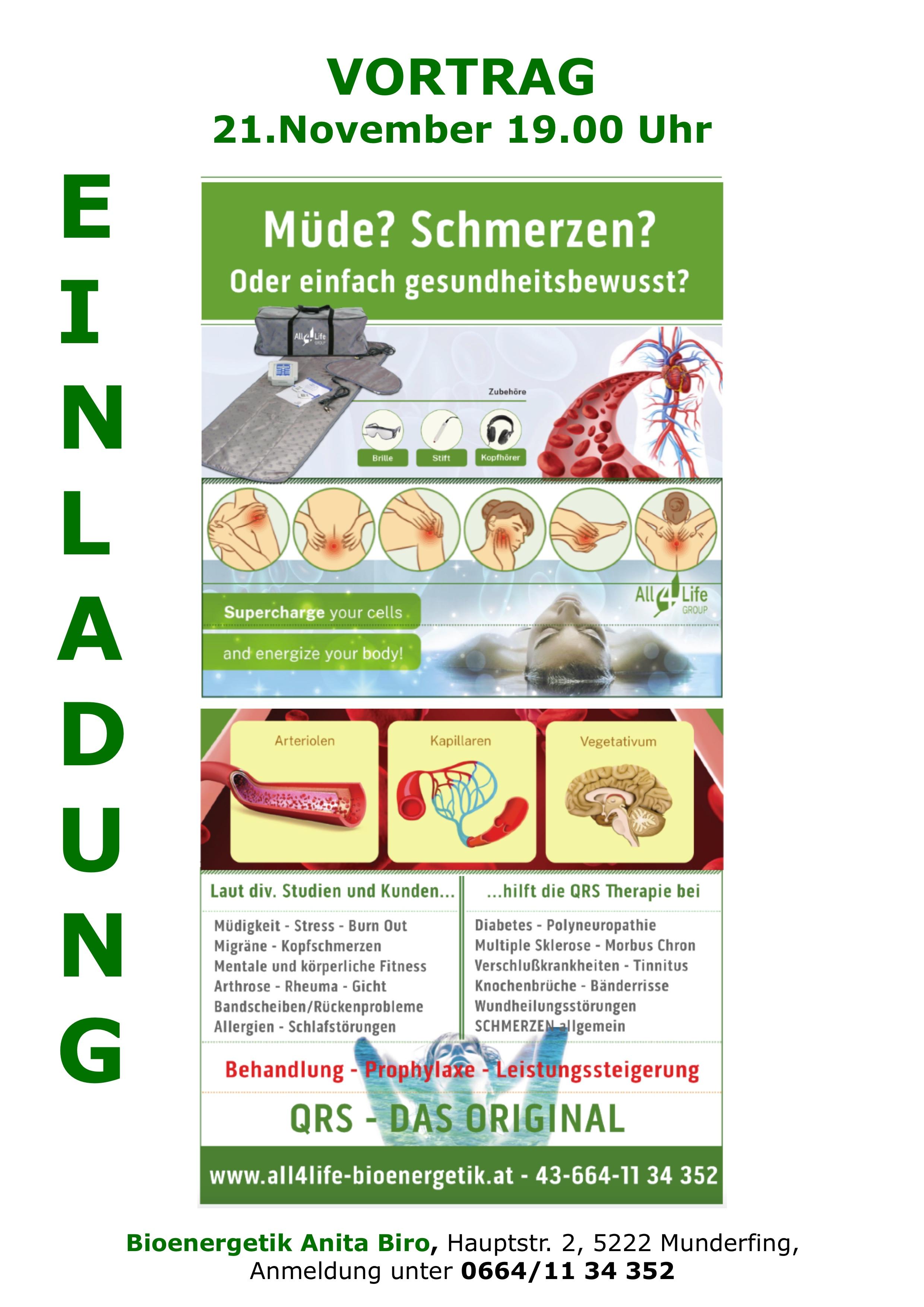 """A-Munderfing Gesundheitsvortrag """"Gscheid Gsund"""""""